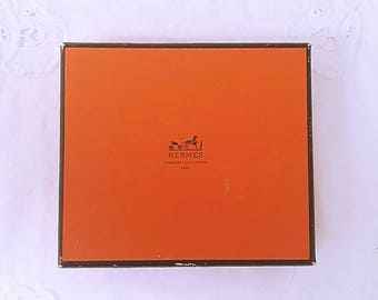 Vintage small orange HERMES box