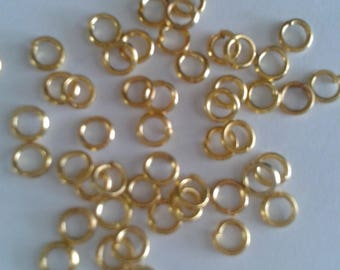 100 jump rings gold plated - 3mm