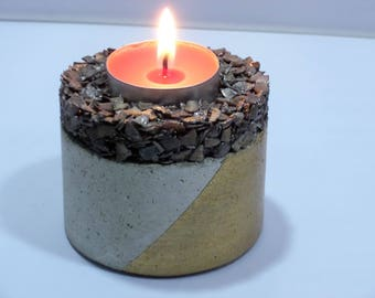 Concrete Candle Holder Cookie_one_deep