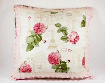 Shabby Chic Pillow, Handmade Pillow, Romantic Pillow, Bedding Pillow, Pillow Cover
