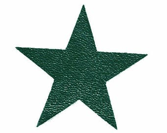 1 star cut 10 cm leather dark green Christmas tree