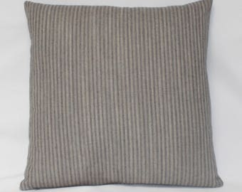 "20 x 20"" Gray Striped Pillow Cover - Designer Fabric - Striped Pillow Cover - Gray Striped Accent Pillow - Grey Striped Throw Pillow"