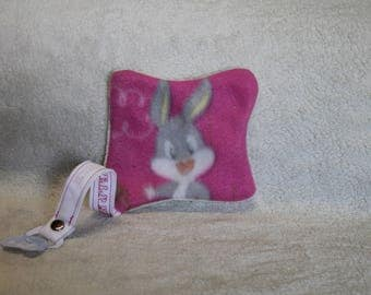 Flat blanket embroidered with pacifier