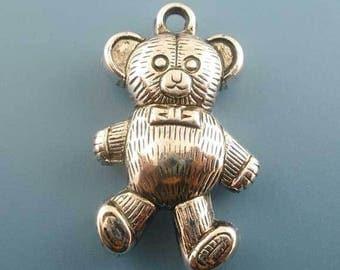 2 large pendants bear baby toy 34x20mm