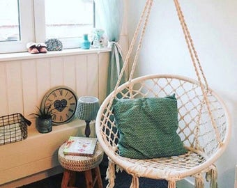 Macrame Swing Chair Hammock Boho Beach Hamptons
