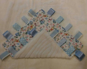 Baby Boys Taggy Taggie Blanket snuggle Cath Kidston Winnie the Pooh comforter