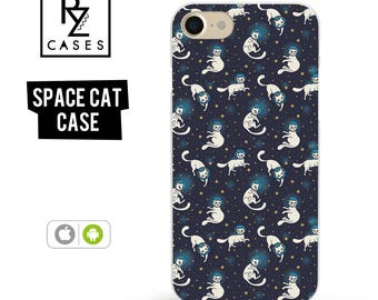 Cat Phone Case, Space Phone Case, iPhone 7, Cat iPhone Case, Animal Phone Case, Astronaut, Cat Lover, Gift for Her, iPhone 7 Plus, iPhone 6S