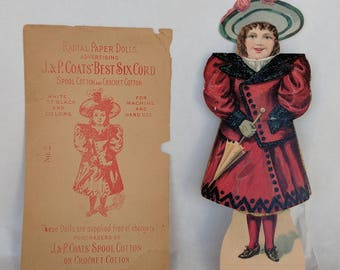 Vintage Paper Doll.  Paper Doll,  Radial Paper Doll