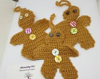 Handmade Christmas Gingerbread men Decoration