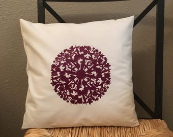 Decorative Pillow. Country Chic. Throw Pillow. Mandala Pillow.