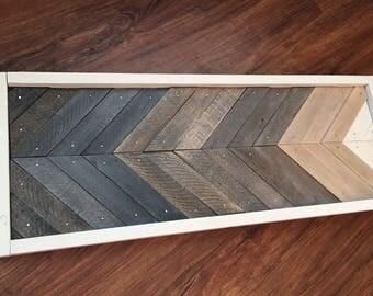 Wood Wall Art, Mosaic Wall Art Wood, Rustic Wall Decor, Grey, Gray