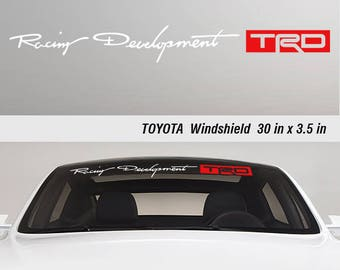 Toyota TRD Off Road Racing Tacoma Tundra Windshield Vinyl Decal Sticker Truck Logo Stickers 1