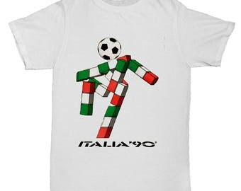 Italia 90 Football World Cup Mascot Italy Tumblr Soccer Mens Retro 2 T Shirt