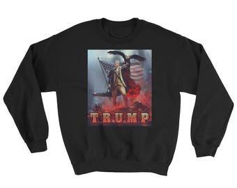President Trump Patriotic Eagle Funny Sweatshirt