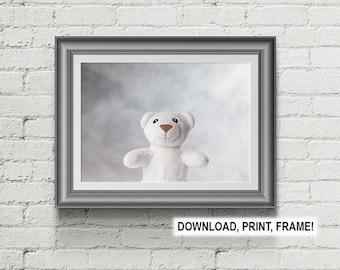 Bear Poster, Peekaboo Bear, Baby room decor, Wall art, Baby Bear print,  Nursery Room Print, Nursery Room Wall Art, Baby room art