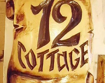 House Number Sign,House Number Plaque,Wood sign,Signage