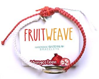 MANGOSTEEN NEAT BRACELET, Guatemalan Bracelets, Handmade bracelets, colorful bracelets, fruit based, fruitweave, friendship bracelets.