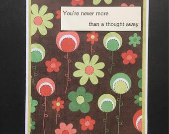 A Thought Away blank greeting card