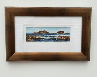 Fidra, North Berwick - print from an original artwork. By Scottish artist Robert J. Gould.