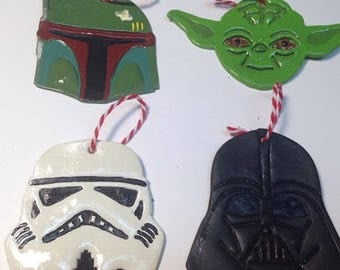 Star Wars polymer clay ornament.Star wars gift tag.star wars party favors.star wars Christmas ornament.Star wars polymer clay