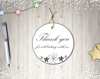 Thank You Tags, Printable Thank You Tags, Instant Download