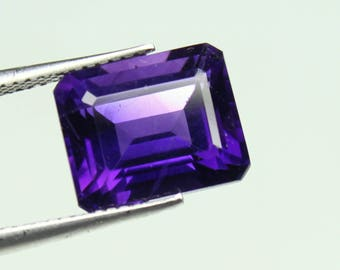 AAA Natural Amazing Purple African Amethyst Size 9x11 mm faceted Octagon 1 PC CODE :- AQ49