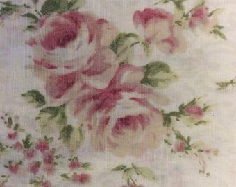 Taie d'oreiller Vintage (1) - taie d'oreiller Standard - blanc avec fleurs roses