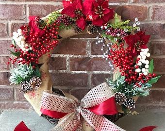 Christmas wreath and door hanger