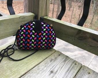 Velvet braided evening bag