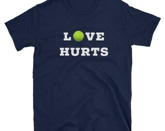 Love Hurts Funny Tennis Shirt, Tennis, Tennis Gift, Tennis TShirt, Tennis T Shirt, Tennis Mom, Tennis Player, Tennis Gifts, Funny Shirt