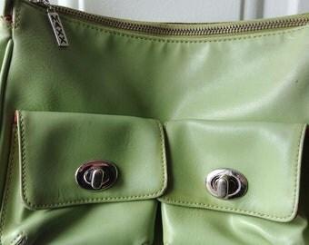 Vintage Lime Green Maxx Shoulder Bag