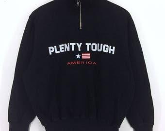 Vintage Plenty Tough America Spell Out Logo Sweatshirt Plenty Tough America Nice Design