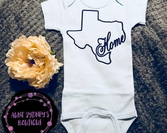 Texas Home Onesie/Bodysuit