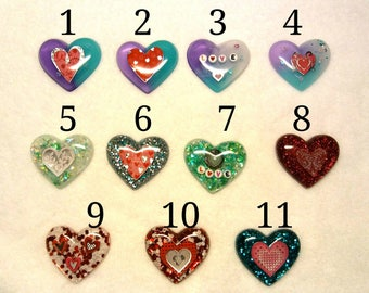 Heart custom keychains or magnets