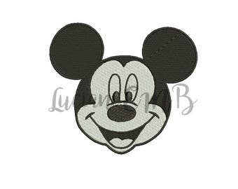 Mickey Mouse Embroidery Design-7 Sizes-8 Formats-design instant download-machine embroidery