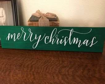 Merry Christmas wood pallet sign