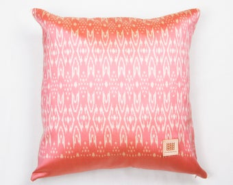 "Hand woven Thai ikat silk ""Mudmee"" pillow cover"
