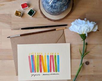 Birthday card - candles