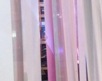 Dale Morrow Lucite Prismatic Monolith Skyscraper Sculpture