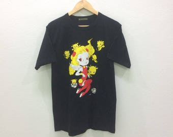 Vintage 24 Hour Television Love Angel And Baby Devil T-shirts Tee Black Colour Nice Design