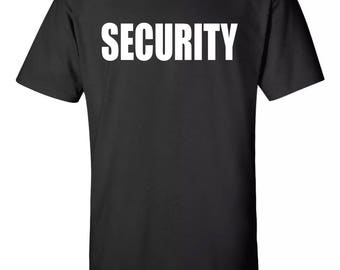 Security Adult Tee Sz:S-2XL