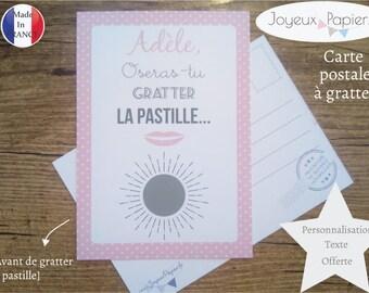 Carte ticket à gratter annonce grossesse bébé : Tu vas être TATA / MAMIE.. ! modèle bouche annonce originale