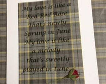 My love is like a red red rose lyrics