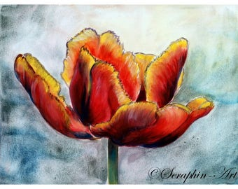 Tulip Original Watercolor Painting