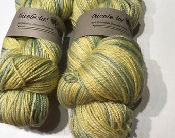 Skein dyed Blue Face Leicester hand