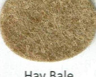 Wool Blend Felt - Hay Bale - Brown Family