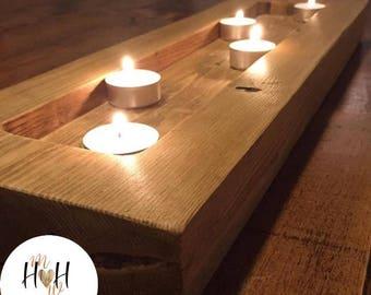 Bespoke Handmade Wooden Candle Holder