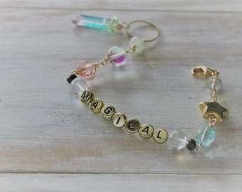 magical crystal bead bracelet