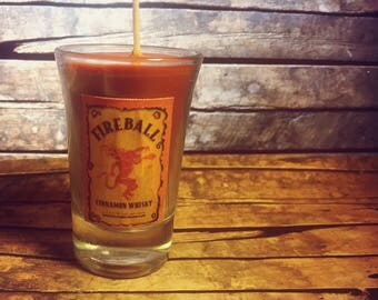 Fireball Shot Candle