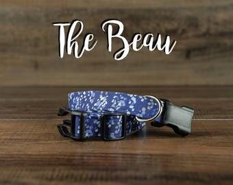 The Beau - Fabric Dog Collar - Adjustable Collar - Custom Fabric